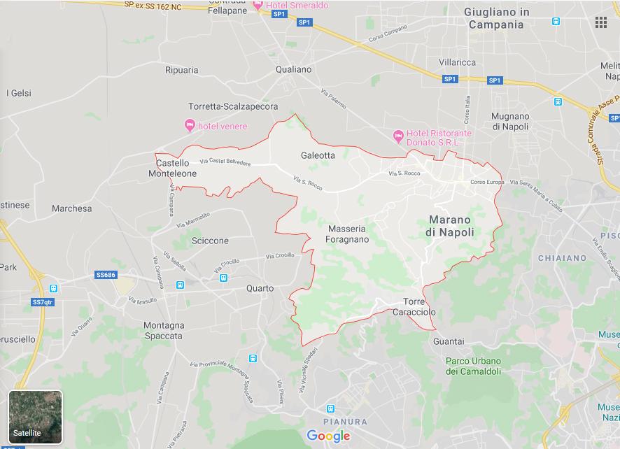 Cartina Marano Di Napoli.Mappa Citta Di Marano Di Napoli